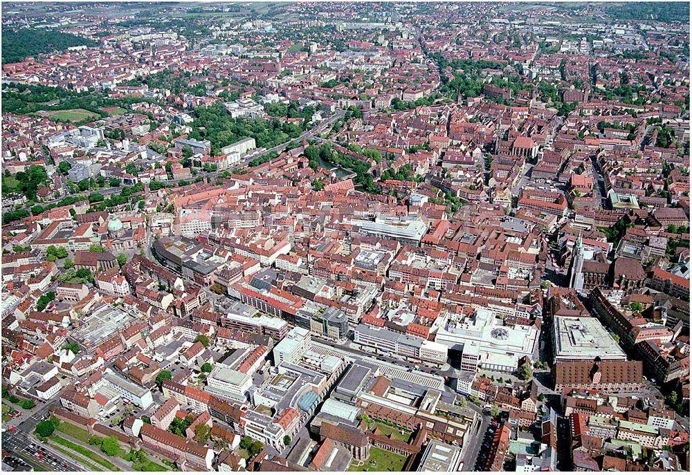 Nürnberg Aus Der Vogelperspektive Altstadt Von Nürnberg Sowie Unten