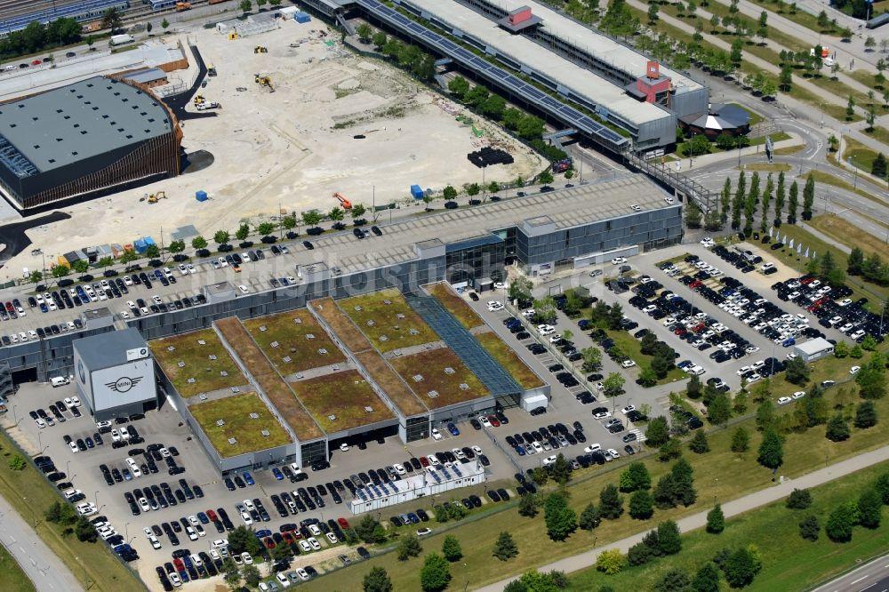 Luftaufnahme München Autohandels Gebäude Des Autohauses Der Bmw