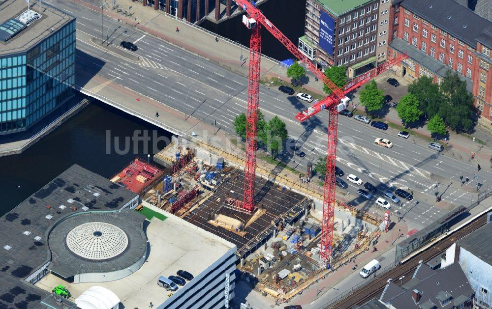Baufirmen Hamburg aus der vogelperspektive baustelle der baufirma aug prien