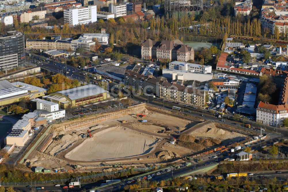Berlin Von Oben Baustelle Möbelhaus Kraft Am Sachsendamm In Berlin