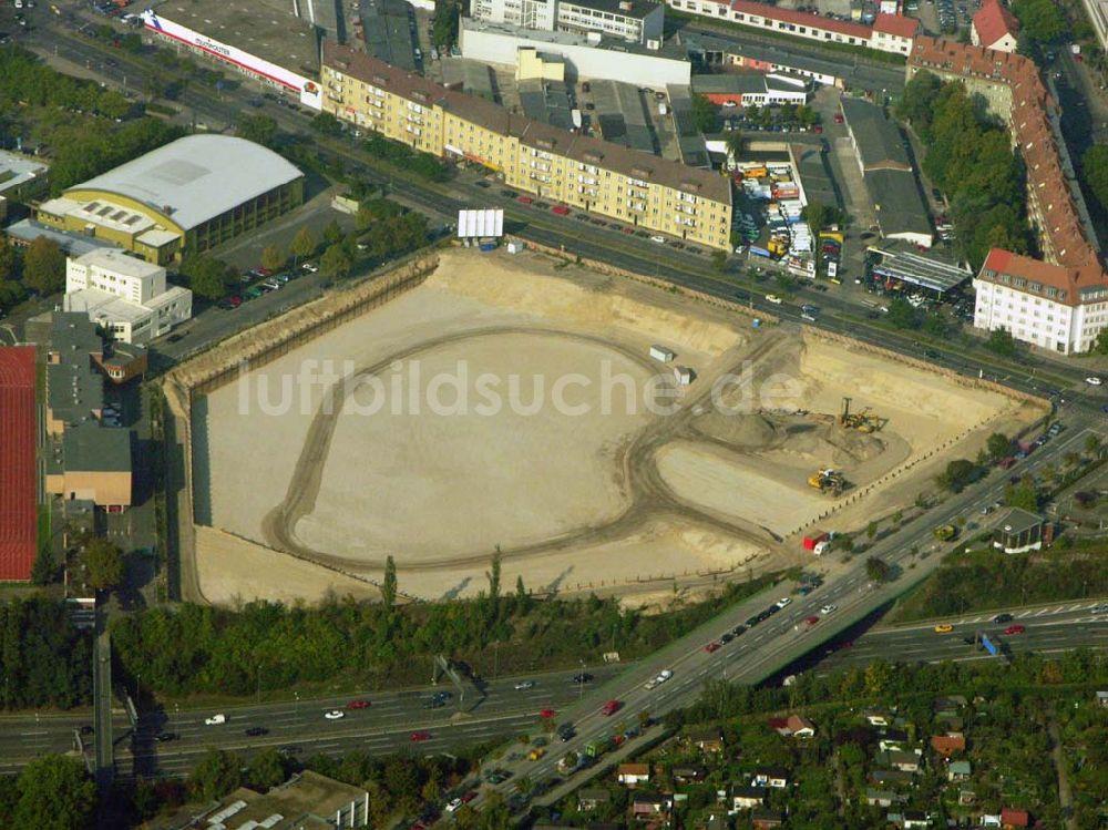 Luftaufnahme Schöneberg Tempelhof Baustelle Am Sachsendamm