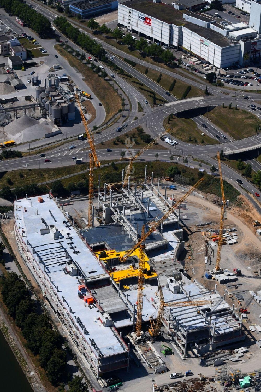 Heilbronn aus der Vogelperspektive: Baustelle zum Neubau des ...