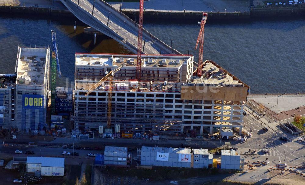 Hamburg aus der vogelperspektive baustelle zum neubau der for Nl hotel hamburg