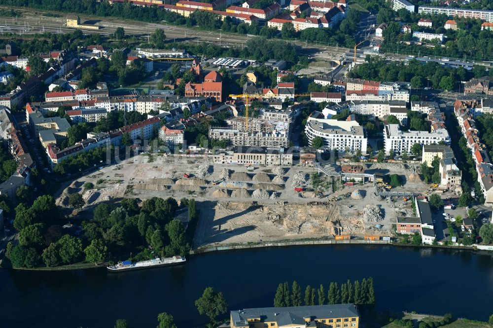 Berlin Von Oben Baustelle Zum Neubau Einer Mehrfamilienhaus