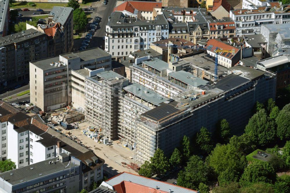 Metropolpark Berlin luftaufnahme berlin - baustelle zum umbau und ausbau des