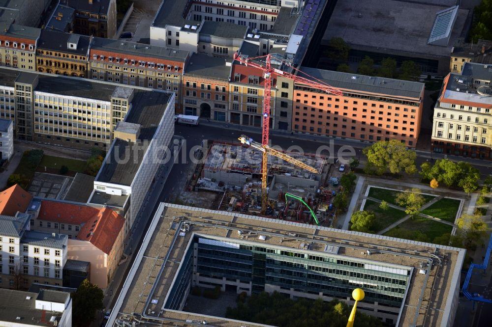Luftbild Berlin - Bauvorhaben Wohnanlage Lux am Neustädtischen ...