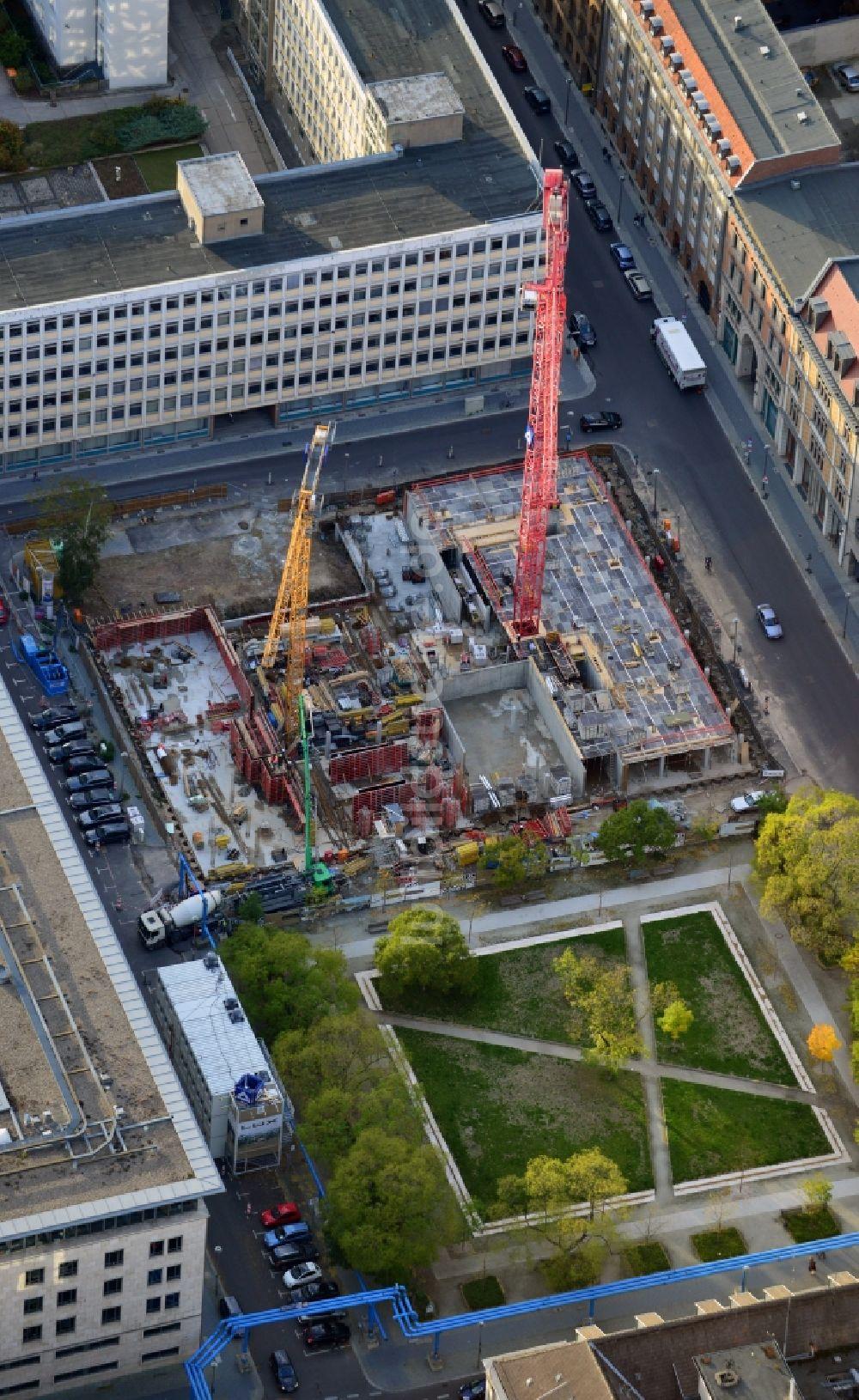 Luftaufnahme Berlin - Bauvorhaben Wohnanlage Lux am Neustädtischen ...