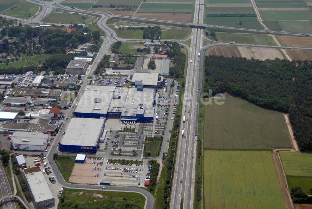 Luftbild Walldorf Bei Heidelberg Blick Auf Das Ikea