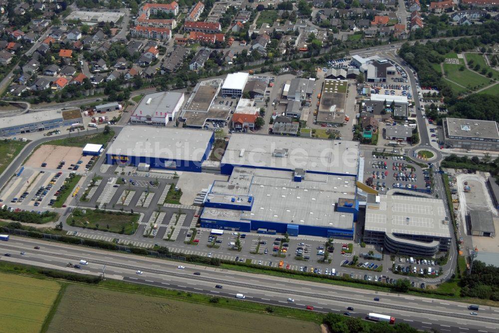 Walldorf Bei Heidelberg Von Oben Blick Auf Das Ikea