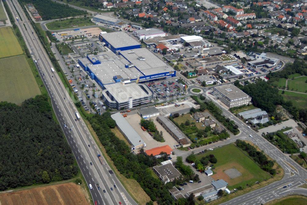 Einrichtungshaus Heidelberg walldorf bei heidelberg blick auf das ikea einrichtungshaus