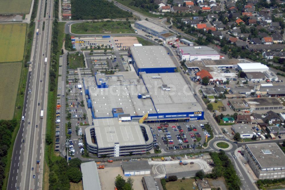 Walldorf Bei Heidelberg Aus Der Vogelperspektive Blick Auf Das Ikea
