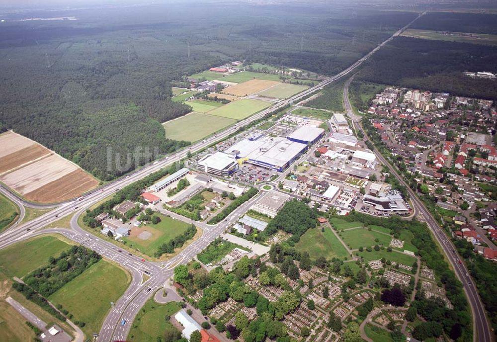 Walldorf Von Oben Blick Auf Das Ikea Einrichtungshaus Walldorf