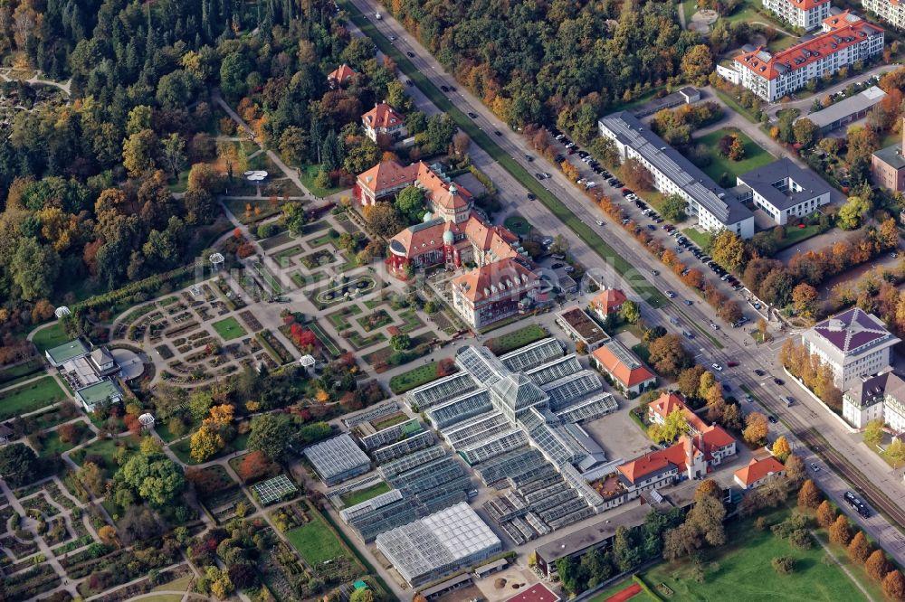 Luftaufnahme München Botanischer Garten In München Nymphenburg Im