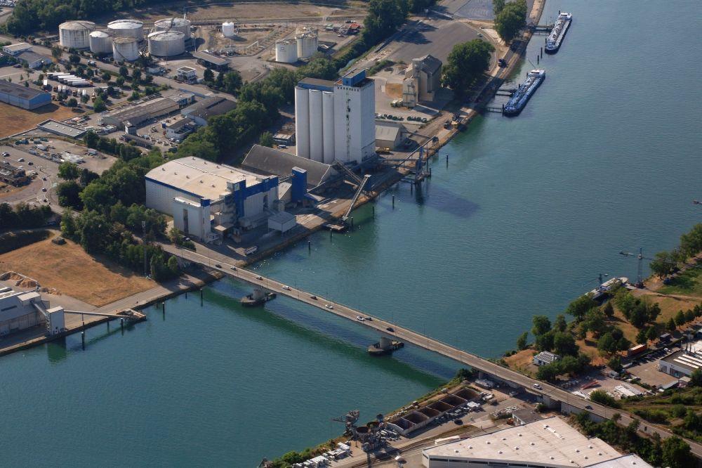 Luftbild Weil am Rhein - Brückenbauwerk Palmrainbrücke