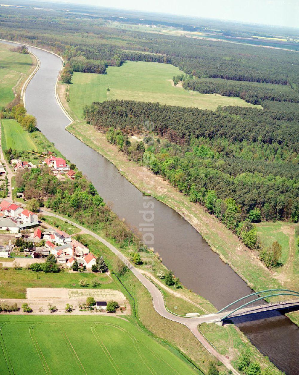 Wusterwitz / BRB aus der Vogelperspektive: Brückenneubau westlich ...