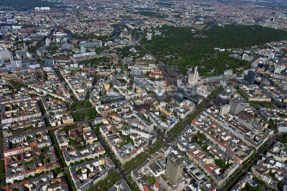 luftbild berlin city west im stadtteil charlottenburg von berlin mit kurf rstendamm. Black Bedroom Furniture Sets. Home Design Ideas