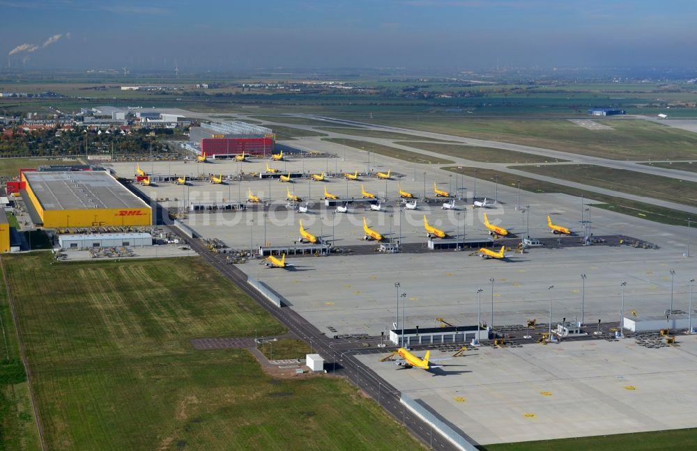 Luftaufnahme Leipzig Dhl Hub Leipzig Am Flughafen Leipzighalle Im