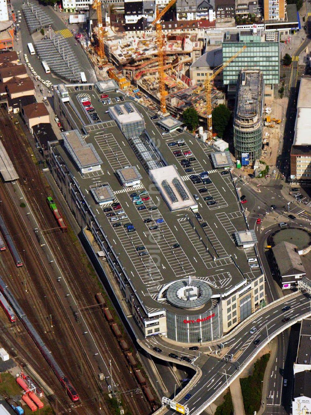 Luftbild Siegen - Die City Galerie und die Baustelle des Sieg-Carré in  Siegen