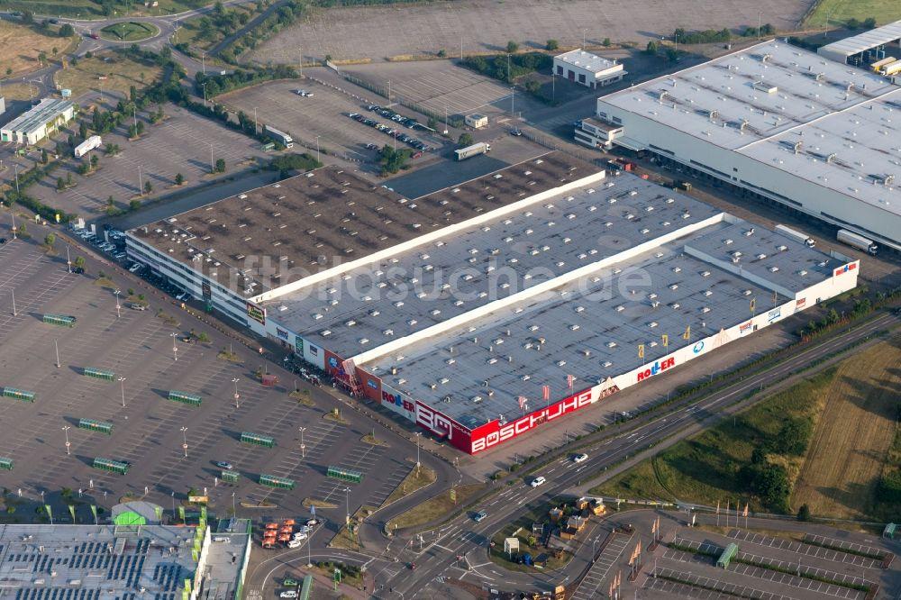 Luftaufnahme Wiesental Einkaufs Zentrum Roller Möbel Waghäusel