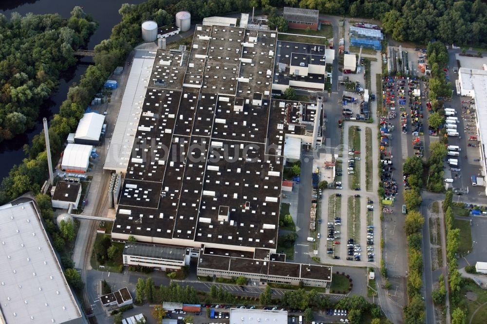 Luftaufnahme Berlin - Firmengelände der Getränke Nordmann GmbH an ...