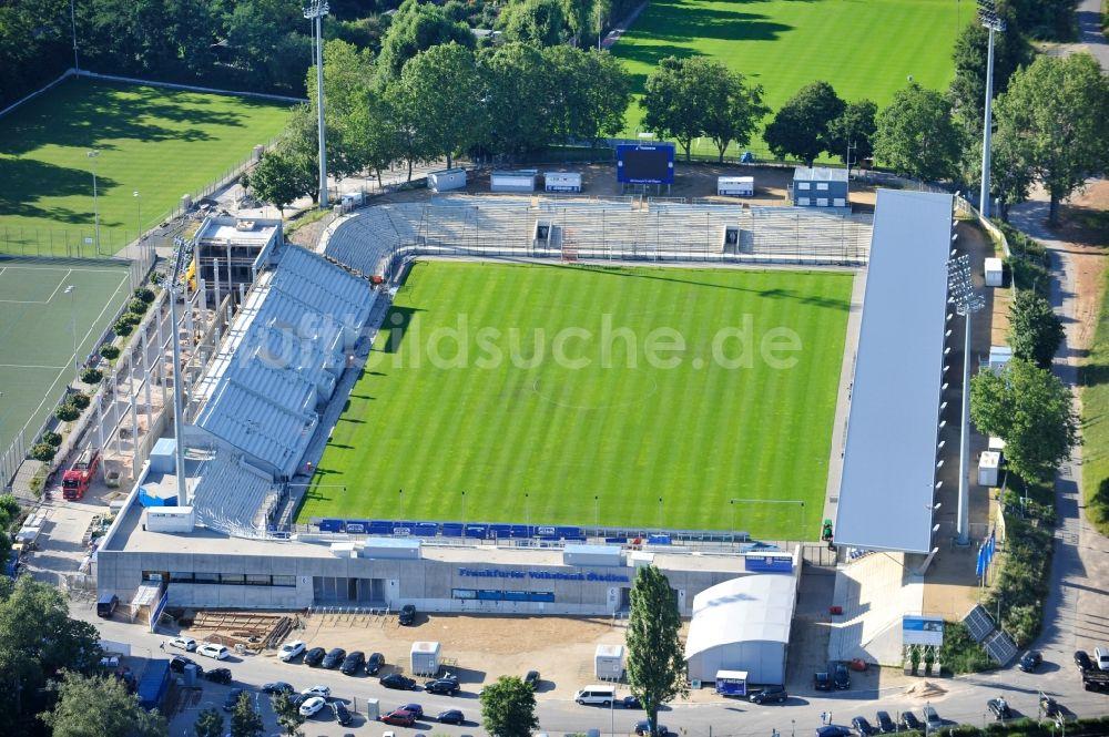 luftbild frankfurt am main frankfurter volksbank stadion in frankfurt am main im bundesland hessen. Black Bedroom Furniture Sets. Home Design Ideas
