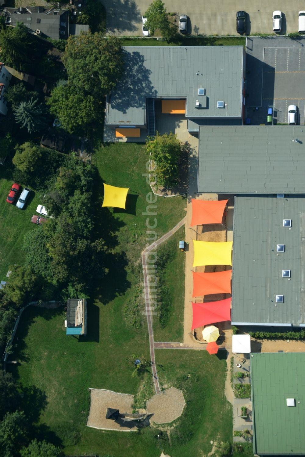 Luftbild Leipzig   Garten Und Dach Der KITA Kindertagesstätte    Kindergarten Kleine Füchse In Leipzig Im Bundesland Sachsen