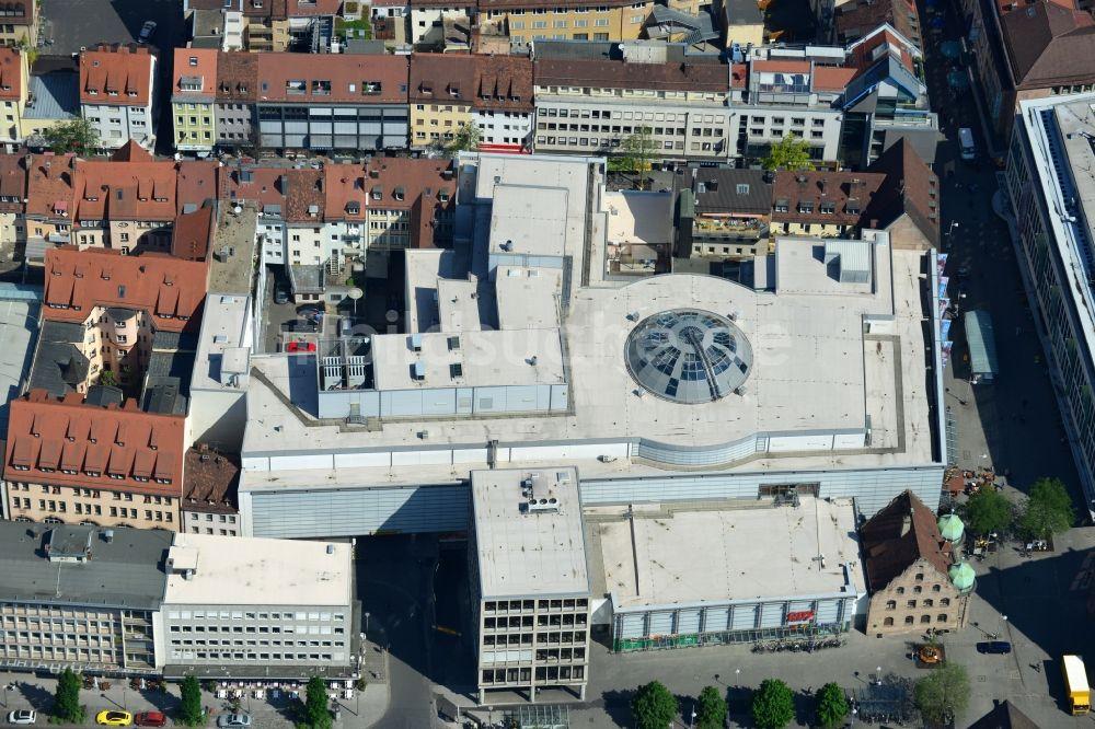 Nürnberg Aus Der Vogelperspektive Gebäude Des Einkaufszentrum City