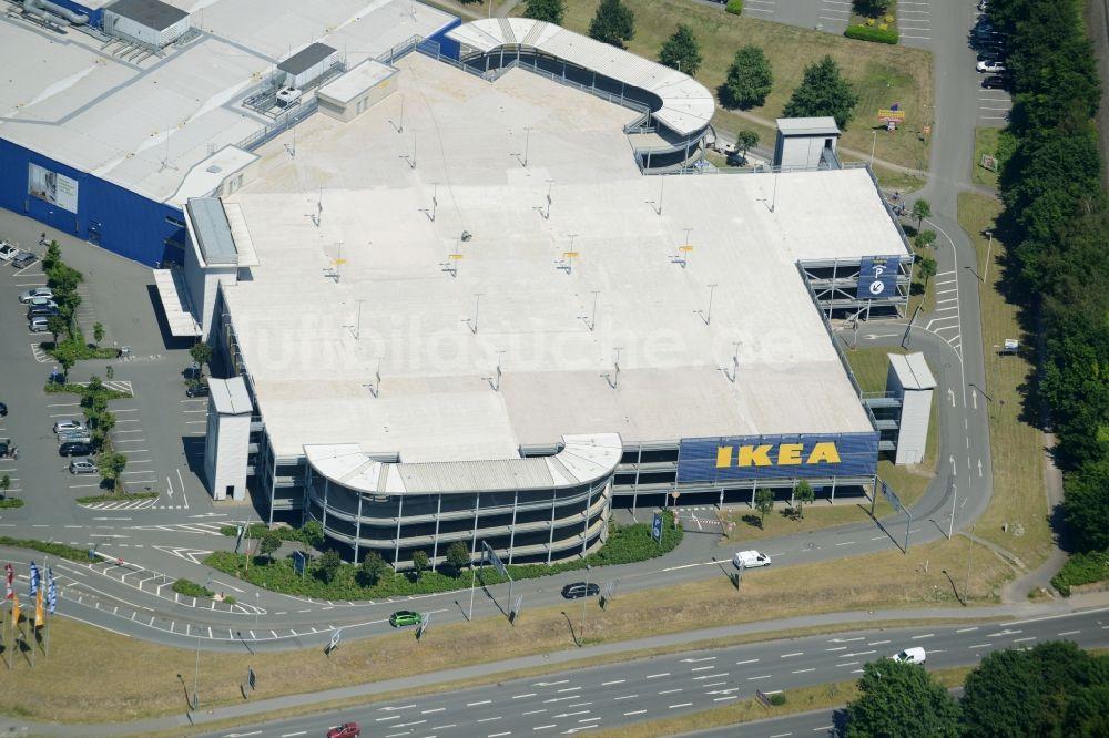 Bielefeld Von Oben Gebäude Des Einkaufszentrum Ikea