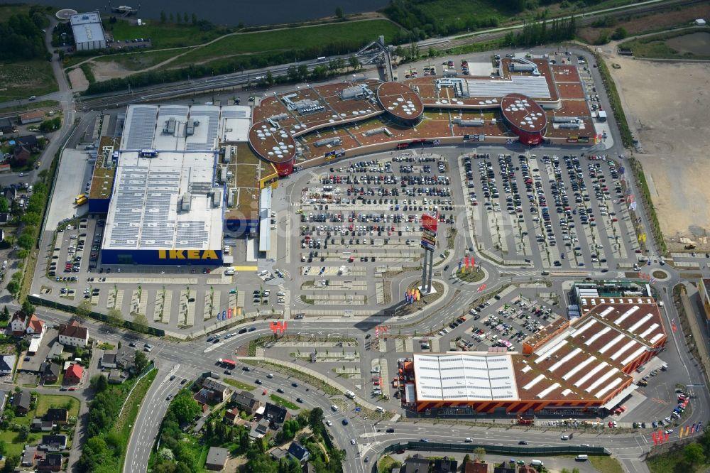 Möbel Lübeck lübeck oben gebäude des einkaufszentrum des ikea möbel und