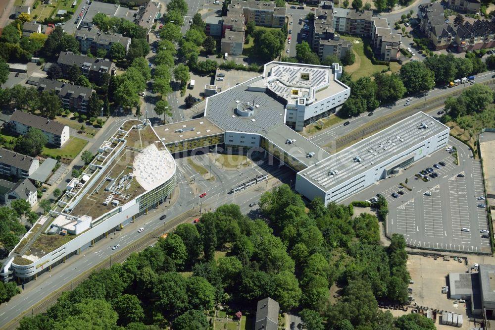 Bochum aus der Vogelperspektive: Gebäude des Einkaufszentrum ...