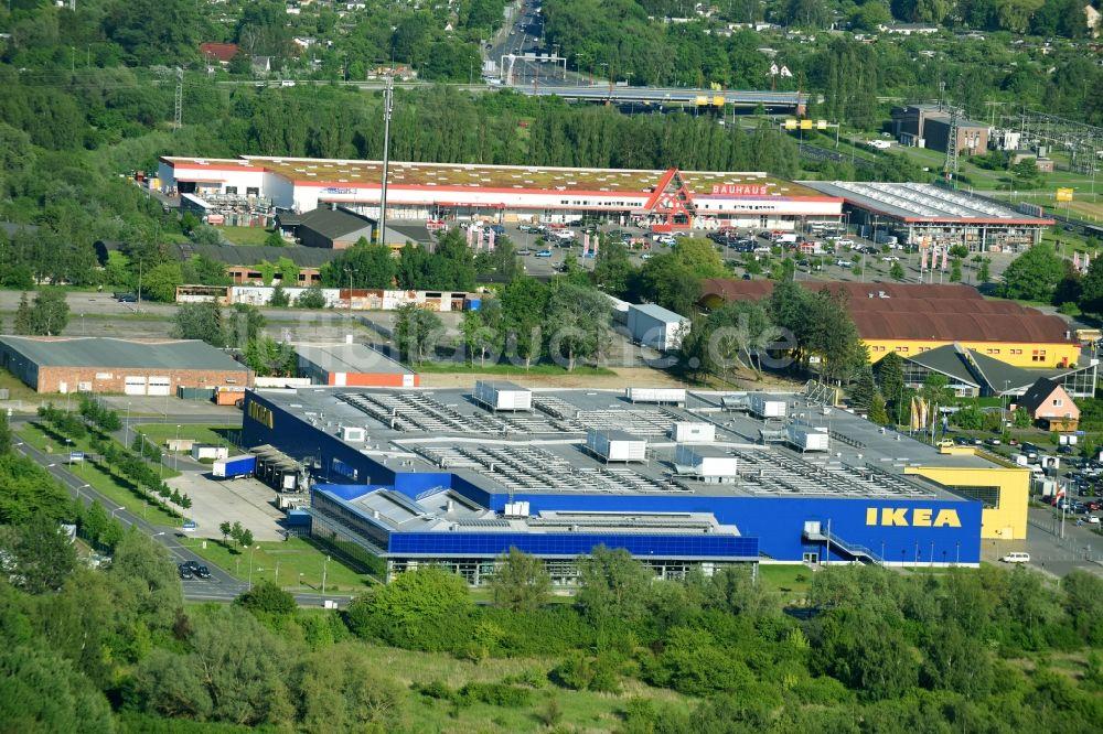 Luftaufnahme Rostock Gebäude Des Einrichtungshaus Möbelmarkt Der