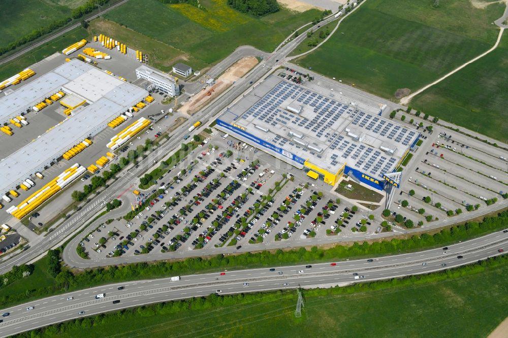 Luftbild Augsburg Gebäude Des Einrichtungshaus Möbelmarkt Der