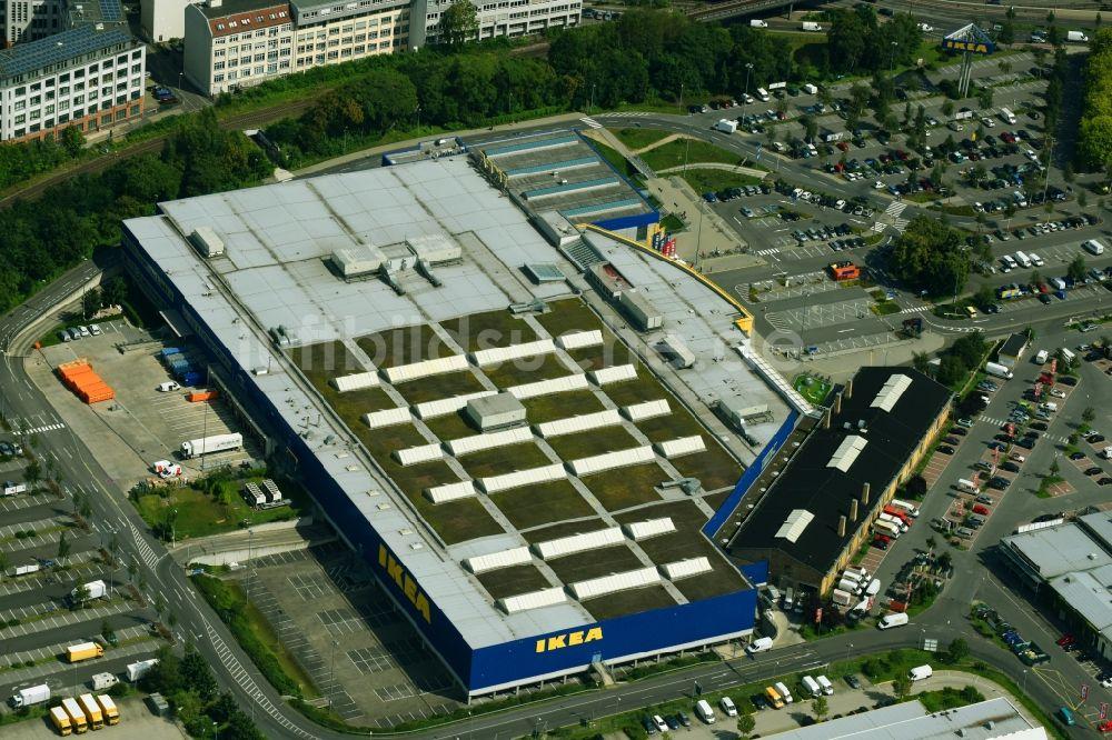 Ikea Schöneberg aus der vogelperspektive gebäude des einrichtungshaus möbelmarkt