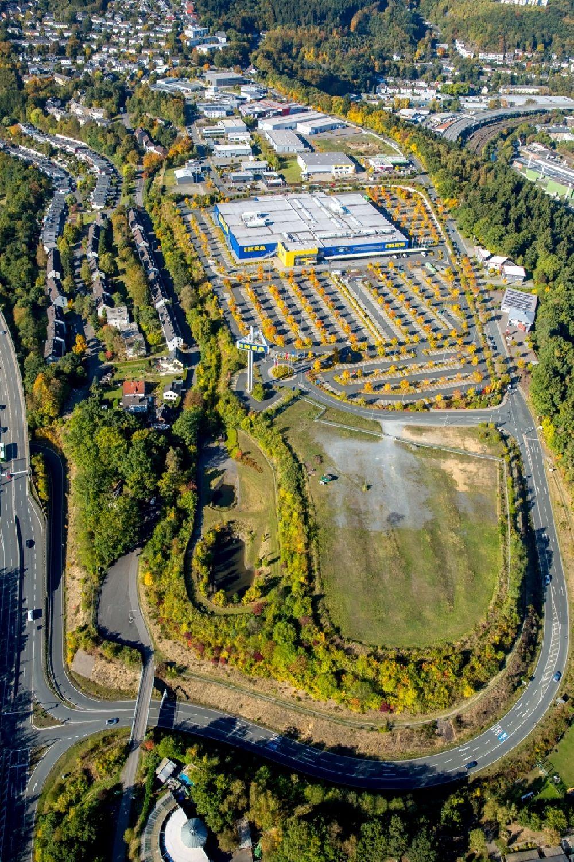 Luftaufnahme Siegen Gebaude Des Ikea Mobelhaus In Siegen Im