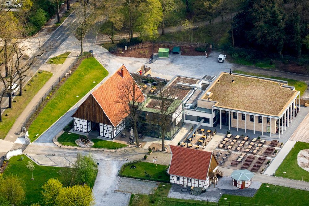 Luftaufnahme Hamm - Gebäude des Restaurant Hohoffs 800