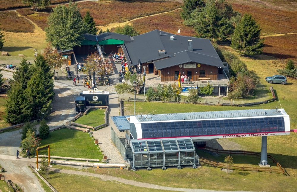 Luftbild Willingen (Upland) - Gebäude des Restaurant