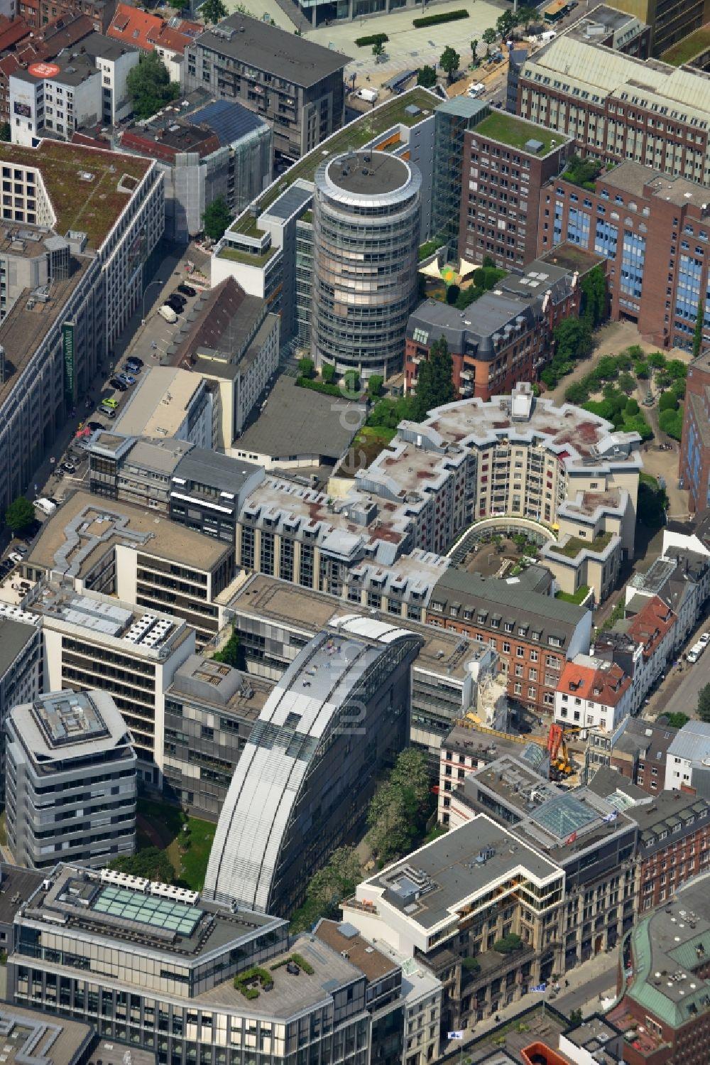 Luftaufnahme Hamburg - Gebäudekomplex der Google Hamburg im Büro ...