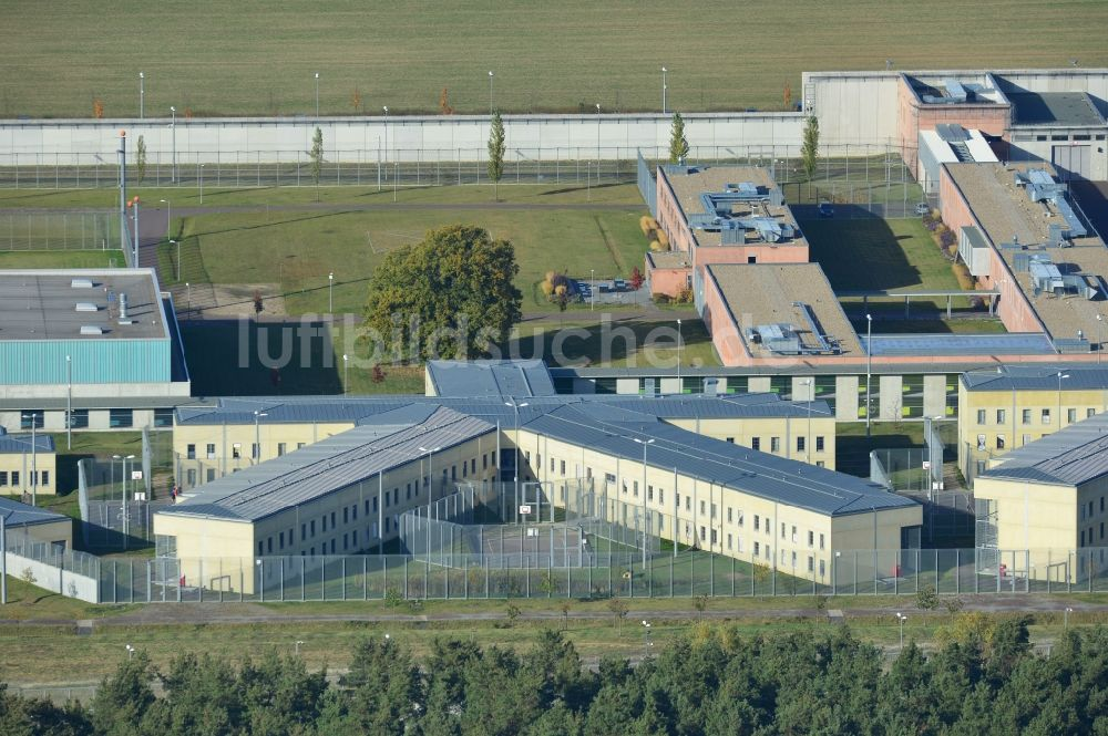 Burg von oben - Gelände der Justizvollzugsanstalt JVA in Burg im ...