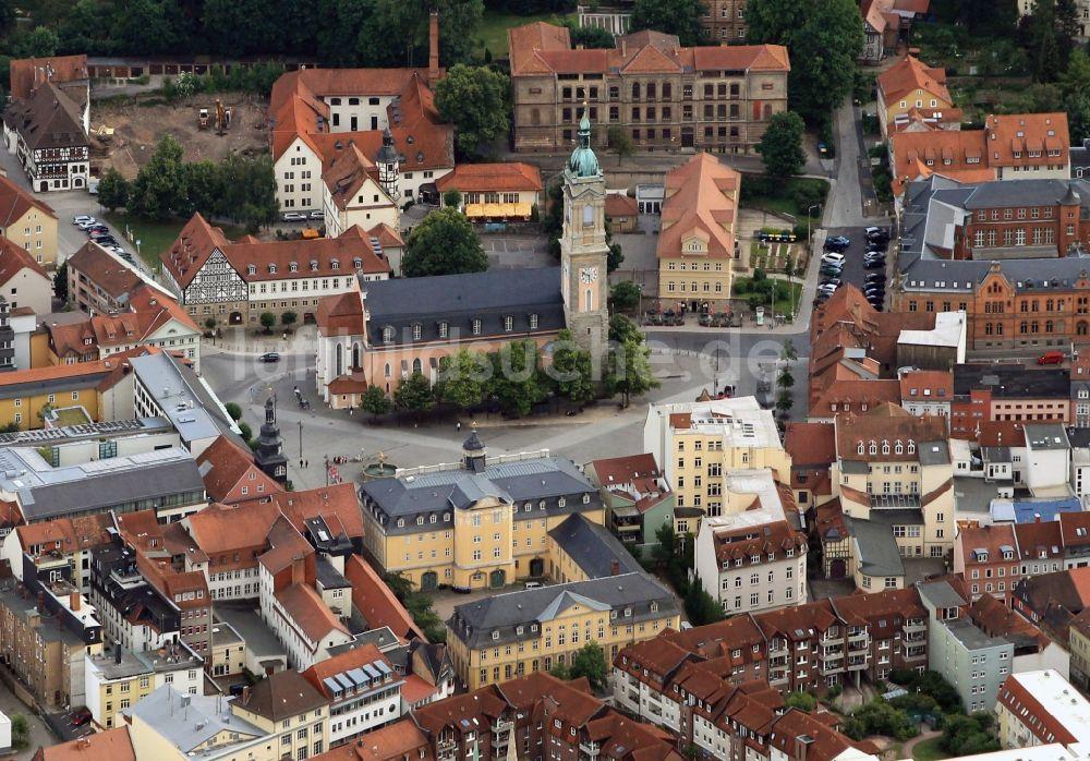 eisenach von oben georgenkirche am markt in eisenach im bundesland th ringen. Black Bedroom Furniture Sets. Home Design Ideas