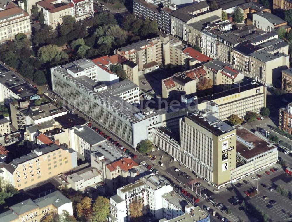 Luftbild Berlin Tiergarten Haupthaus Der Firma Möbel Hübner An Der