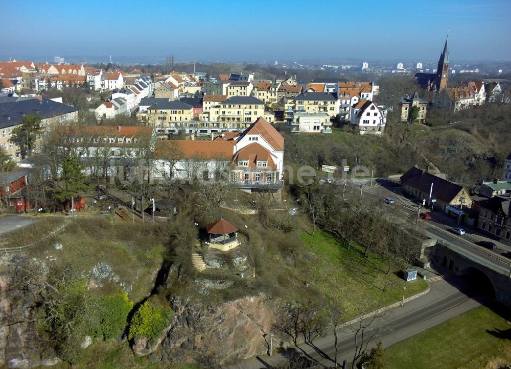 Halle / Saale von oben - Hotel und Gaststätte Bergschänke der Ufer ...