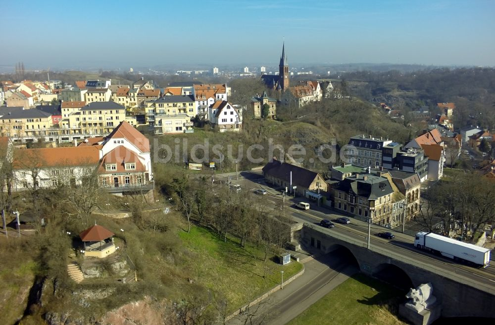 Halle / Saale aus der Vogelperspektive: Hotel und Gaststätte ...