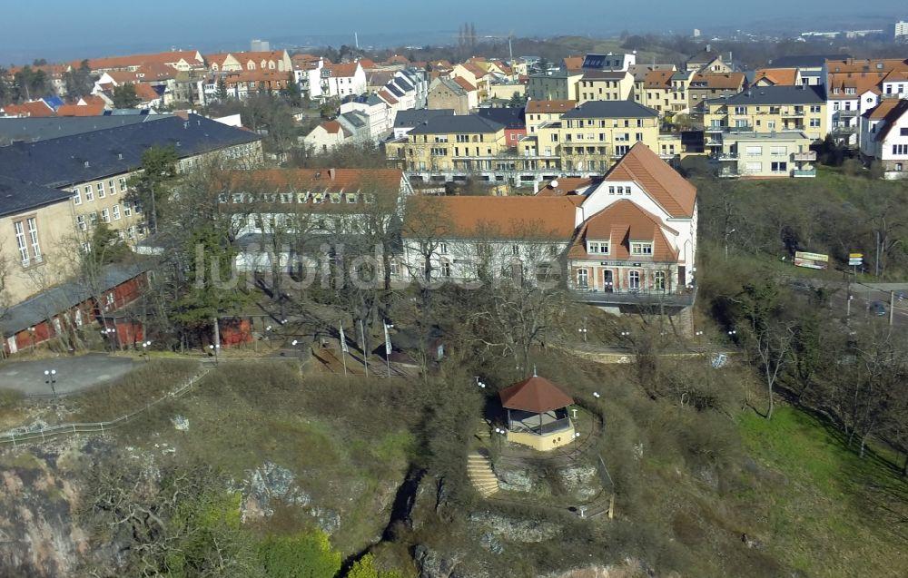 Luftaufnahme Halle / Saale - Hotel und Gaststätte Bergschänke der ...