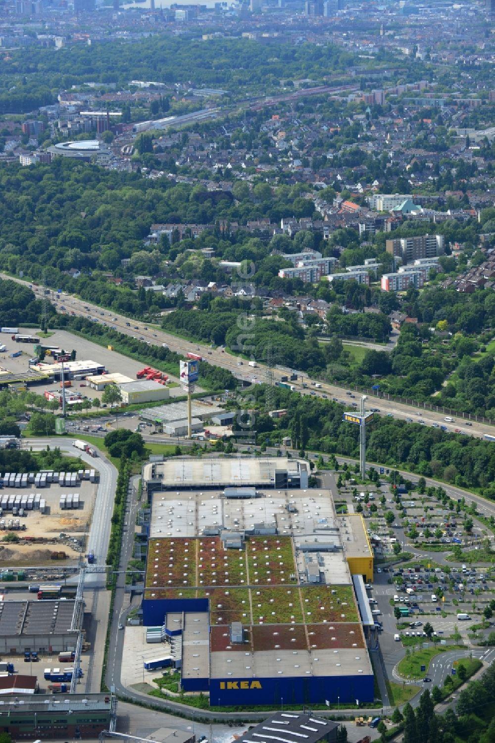 Luftbild Düsseldorf - IKEA Einrichtungshaus / Möbelhaus in ...