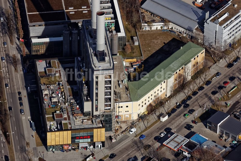 Möbelhaus In München aus der vogelperspektive kare möbelhaus im kraftwerk in der