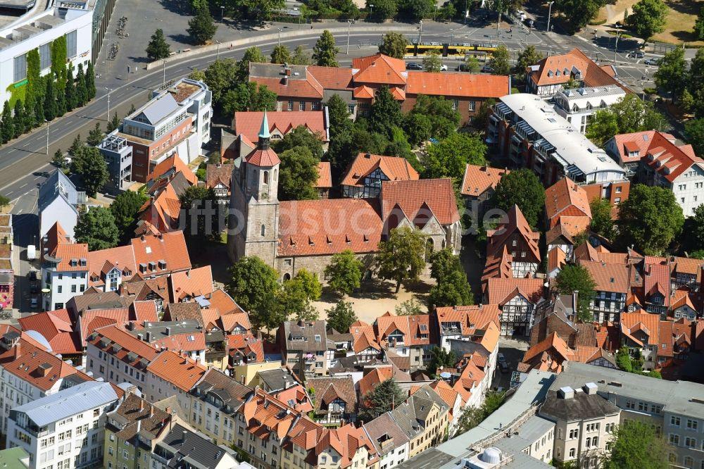 Luftaufnahme Braunschweig Kirchengebäude Der Sankt Magni Kirche Im