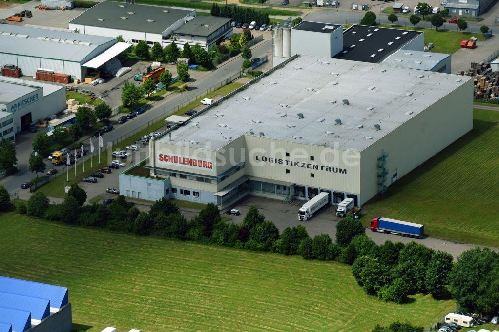 Luftbild Schwarzenbek Lagerhallen Und Speditionsgebäude Der Firma