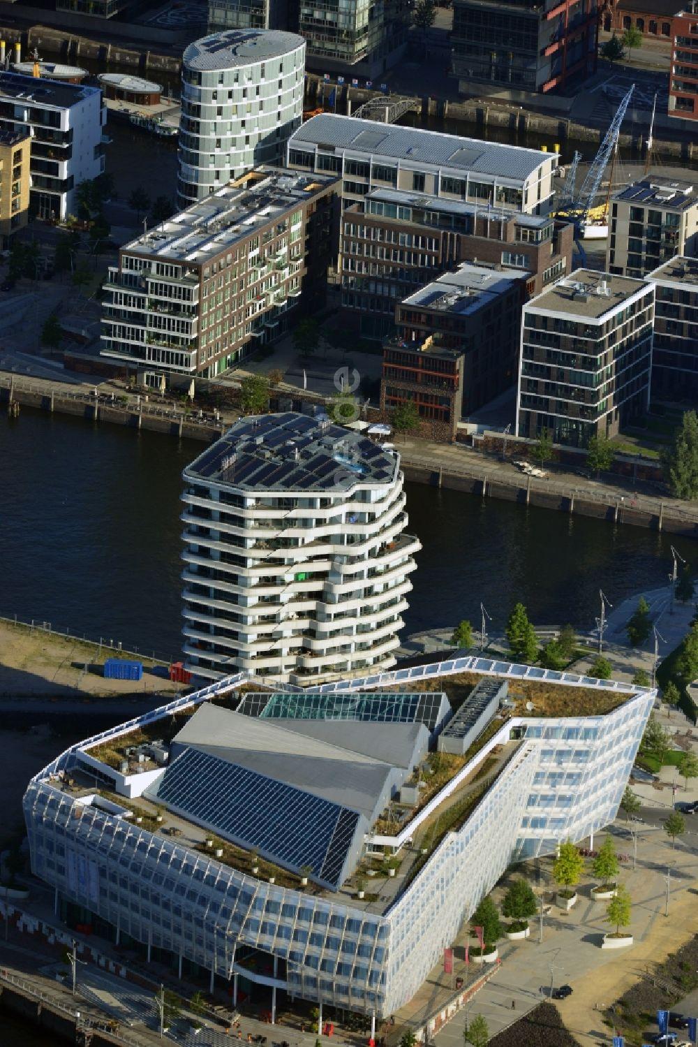 Hamburg von oben - Marco-Polo-Tower und Unilever Deutschlandzentrale ...