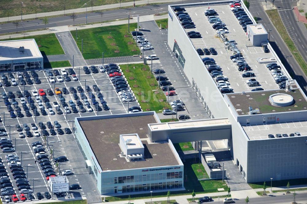 luftaufnahme berlin - neu errichtetes autohaus audi - zentrum in