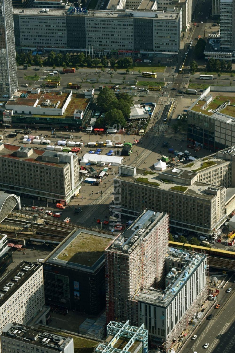 Luftaufnahme Berlin Neubau Hochhaus Baustelle Der Hotelanlage